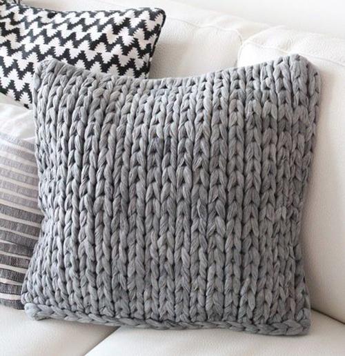 вязаная подушка простая купить доставка